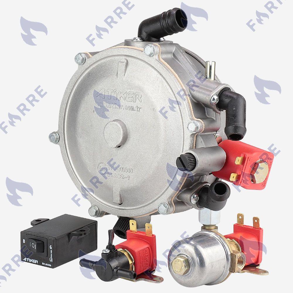 Миникит Atiker электронный (Редуктор, клапан газа, клапан бензина, переключатель)