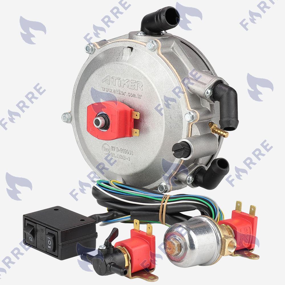 Миникит Atiker вакуумный (Редуктор, клапан газа, клапан бензина, переключатель)