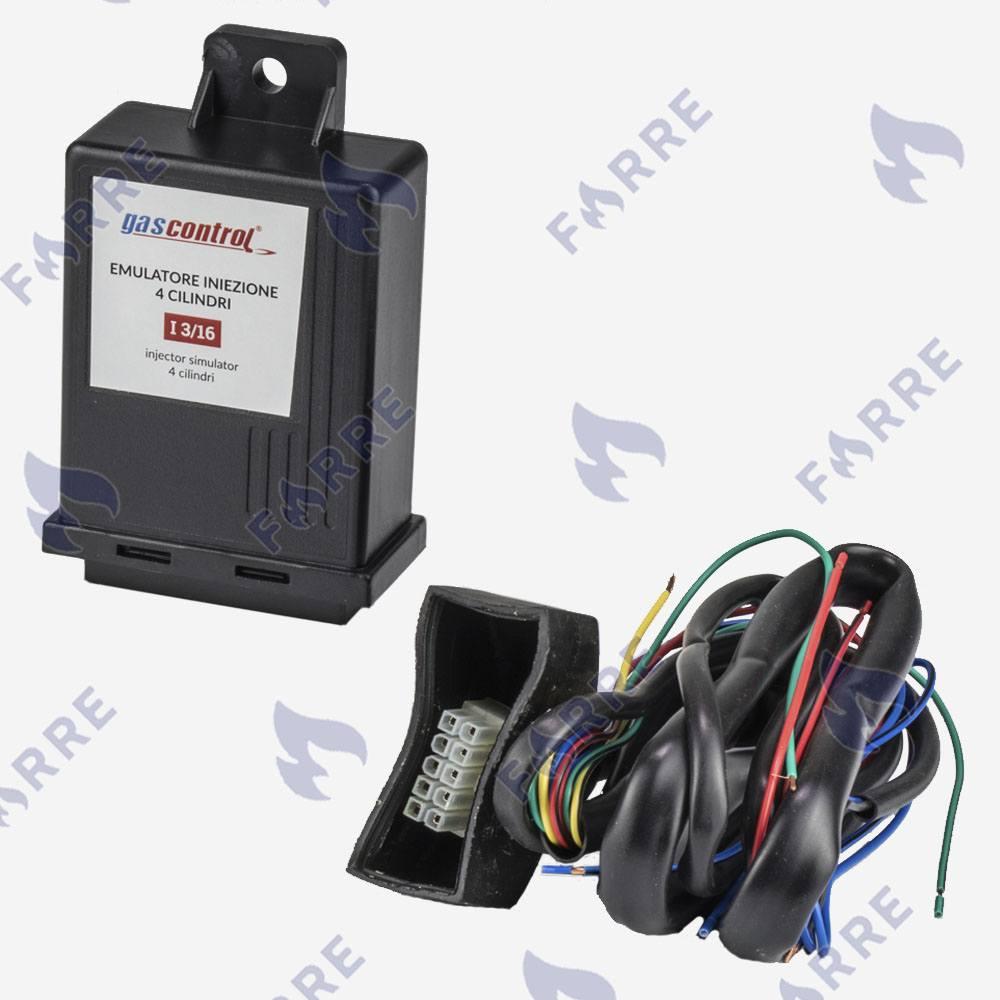 Эмулятор форсунок Gas Control 4 цилиндра без разъемов