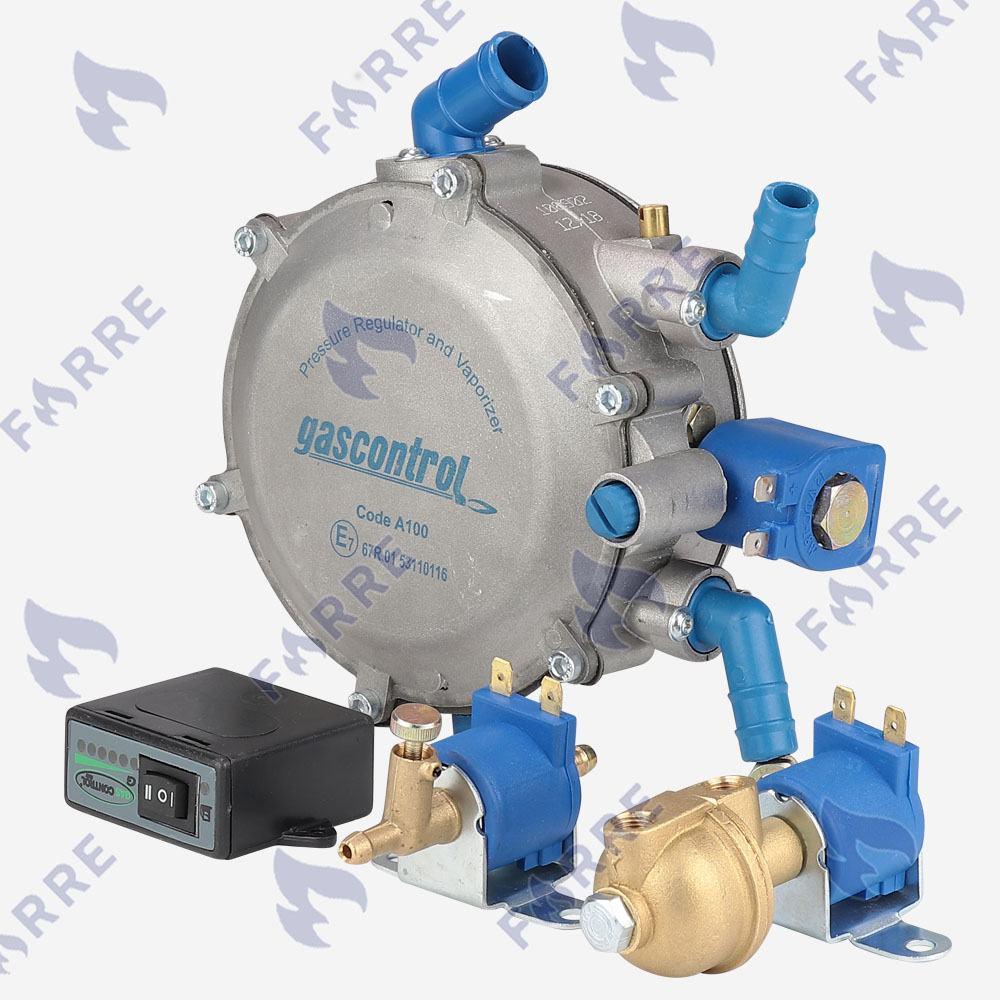 Миникит Gas Control электронный (Редуктор, клапан газа, клапан бензина, переключатель)