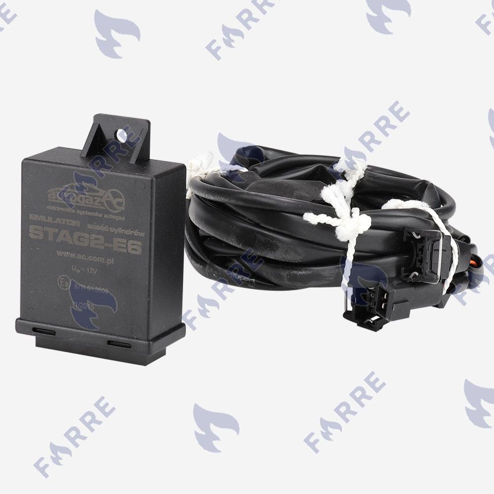 Эмулятор форсунок Stag 6 цилиндров с разъемами Europa/Bosch