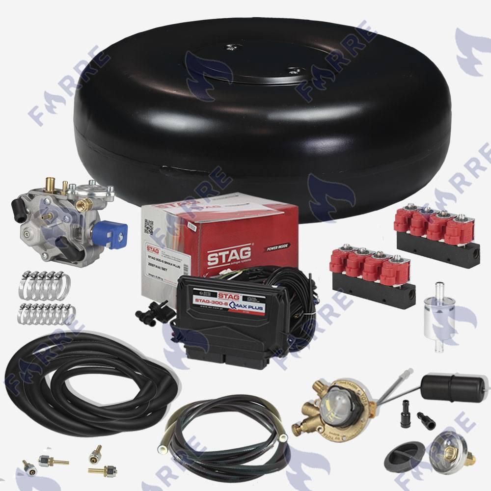Комплект ГБО-4. Stag-300-8 QMAX Basic, Tomasetto Antartic SUPER, Valtek 3 Ом