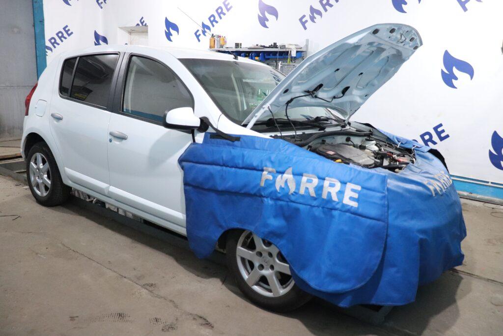установка газобаллонного оборудования на Dacia Sandero