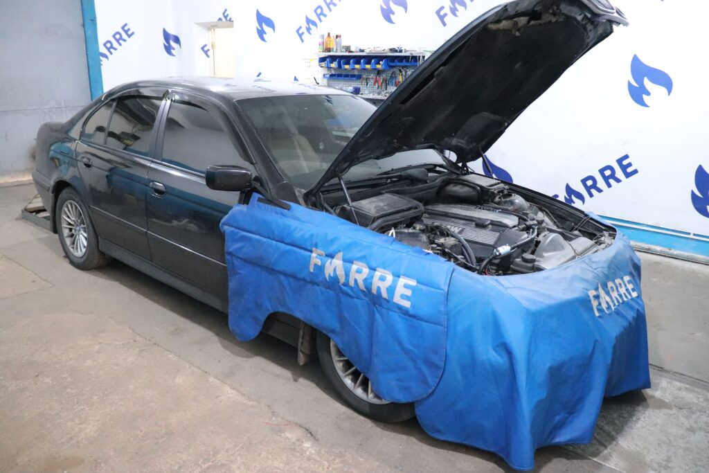установка газобаллонного оборудования на BMW 520i